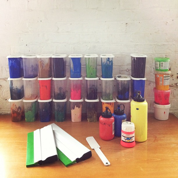 Inks and squeegees