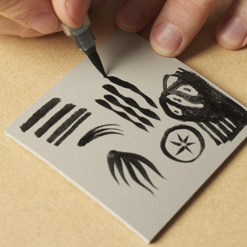 inking lino block
