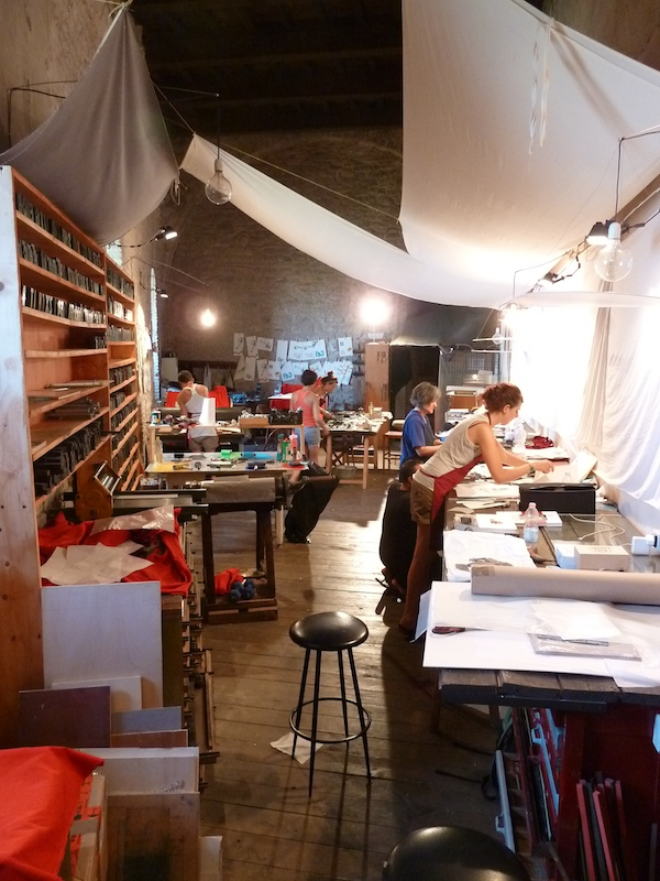 linocut and letterpress workshop