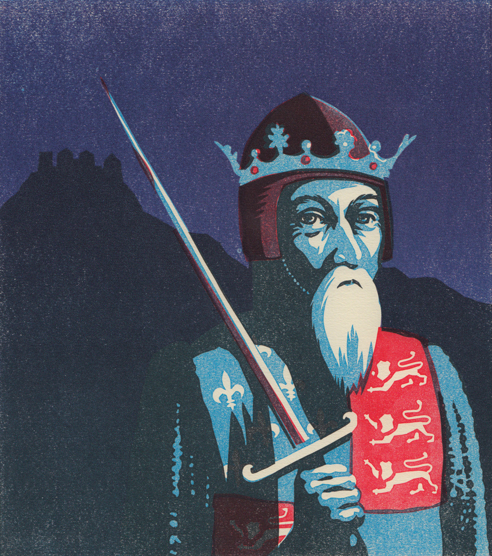 linocut of Edward III