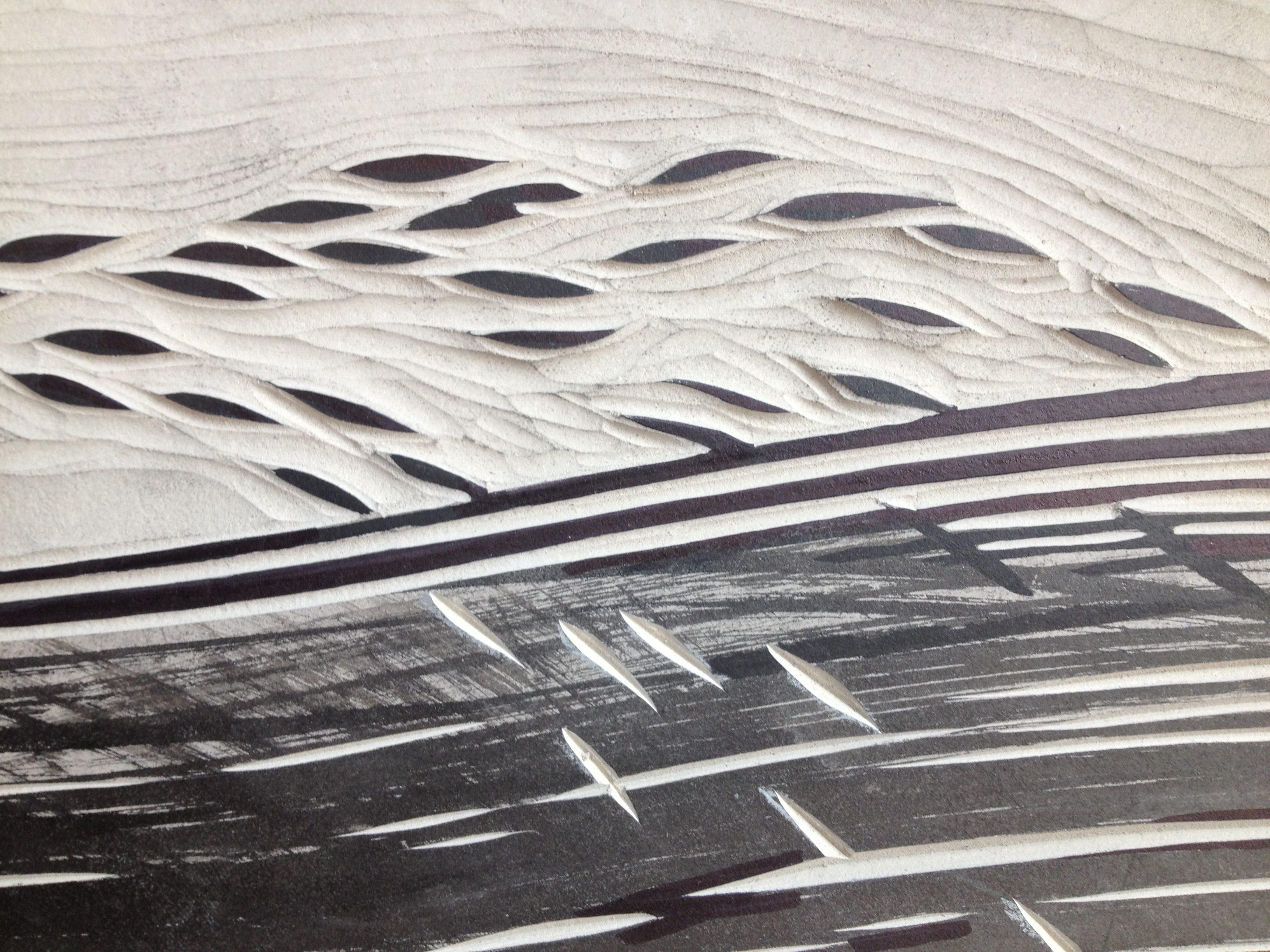 linocut detail