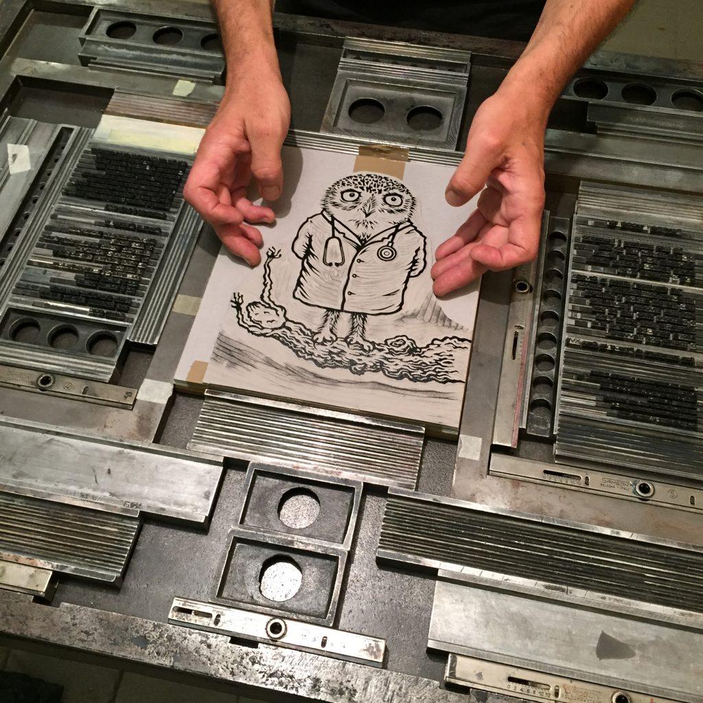 Linocut Artist S Book With Vacuum Editions Linocutboy
