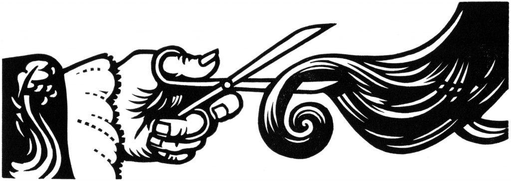 The Rape of the Lock linocut illustration